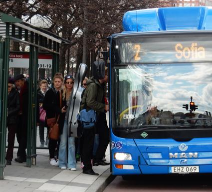 Kostnaderna för en kollektivtrafikresa i Stockholm är lägst i landet. Högst är kostnaden i Kalmar län, enligt statistik från myndigheten Trafikanalys. Foto: Ulo Maasing.