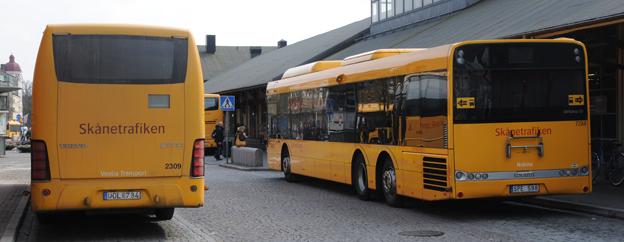 Transdev och Nobina är vinnare i Skånetrafikens senaste upphandling. Foto: Ulo Maasing.