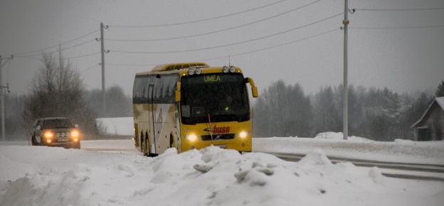 Kör- och vilotidsreglerna och myndigheternas fyrkantig tillämpning av dem gör att ersättningsbussar vid tågstörningar får problem. Arkivbild: Ulo MAasing.