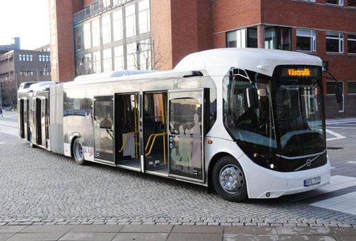 """I """"originalversionen"""" av EBSF utvecklade Volvo den här konceptbussen. Foto: Ulo Maasing."""