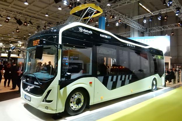 Volvos nya elbuss som sätts i reguljär trafik nästa vecka tillhör nyheterna på UITP-mässan i Milano. Foto: Ulo Maasing.