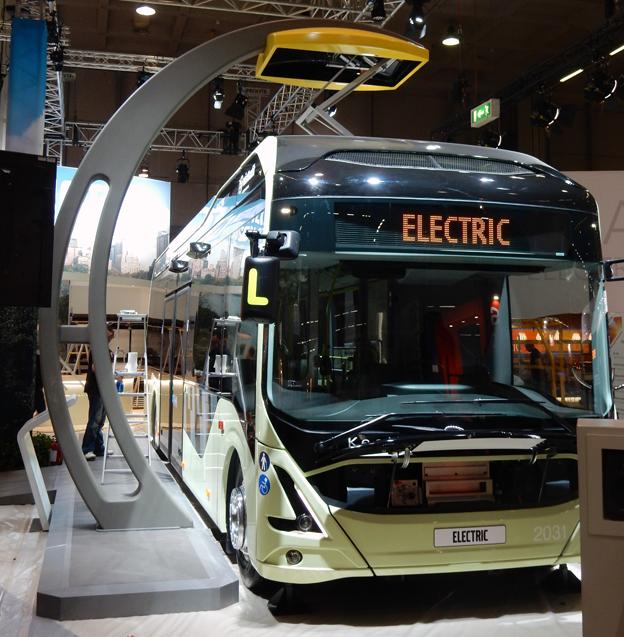 Volvo visar en av de elbussar som ingår i ElectriCity i Göteborg. Foto: Ulo Maasing.