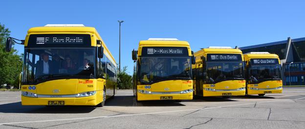 Senare i sommar sätter Berlin fyra induktivt laddade bussar, Solaris Urbino Electric, i trafik på en av de centrala busslinjerna i staden. Foto: Solaris.