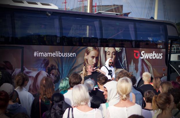 Swebus ordnade gatufest på tisdagen. Foto: Swebus.