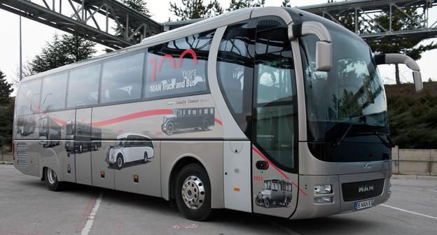 MAN har tagit fram en jubileumsversion av sin turistbuss Lion´s Coach. Foto: MAN.