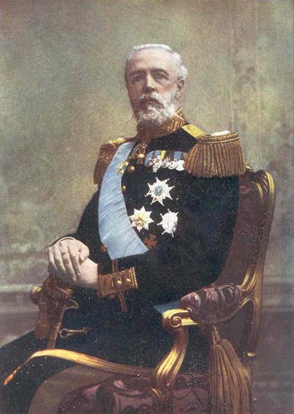 Föremålet för striden: Kung Oscar II.