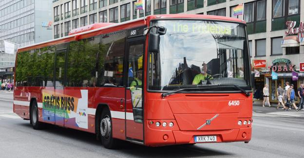 Liksom i fjol kommer Nobina att i år köra en särskild gratisbusslinje och dessutom delta i Stockholm Pride. Foto: Ulo Maasing.