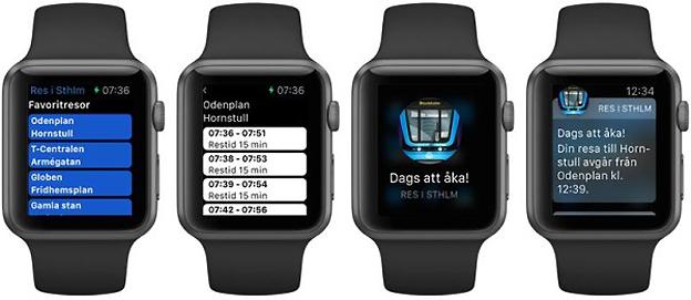 Reseplaneraren Res i STHLM är en av de första svenska apparna för Apple Watch.