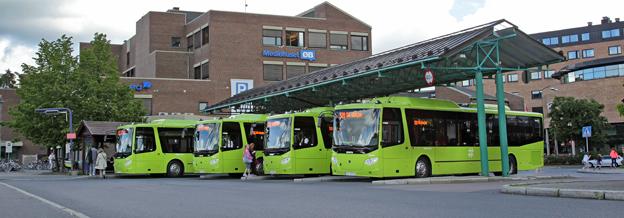 Scania har levererat sina första gasbussar till den norska marknaden. Foto: Scania.