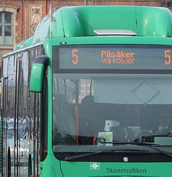 Sexdramat ägde rum på linje 5 i Lund. Foto: Ulo Maasing.