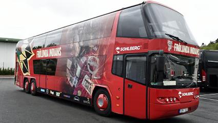 Samarbete med en lång rad idrottsföreningar ger Sohlberg Buss ett närverk och många kunder, både företag och enskilda personer. Foto: Sohlberg Buss.
