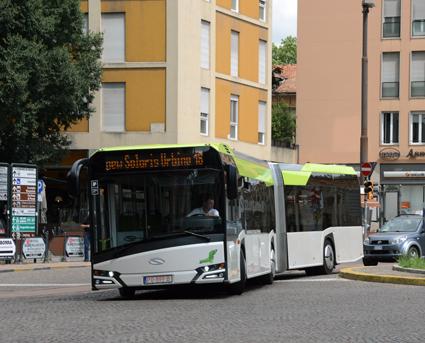 Tyngdpunkten på nya Urbino 18 är lägre än på föregångaren vilket ger en mycket stabil gång. Foto: Ulo Maasing.