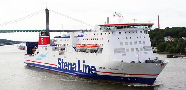 Stena Jutlandica tas ur trafik minst en vecka efter kollissionen med ett tankfartyg, natten till söndagen. Foto: Stena Line.