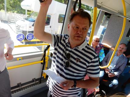 John Strand, vd, Merresor: Vi möttes av totalt ointresse från SL för vår kommersiella linje Nacka – Kista. Foto: Ulo Maasing.