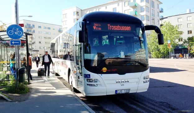 Trosabussen mellan Trosa och Stockholm var 2013 den enda trafik som kördes på ett tjänstekoncessionsavtal. Foto: Ulo MAasing.