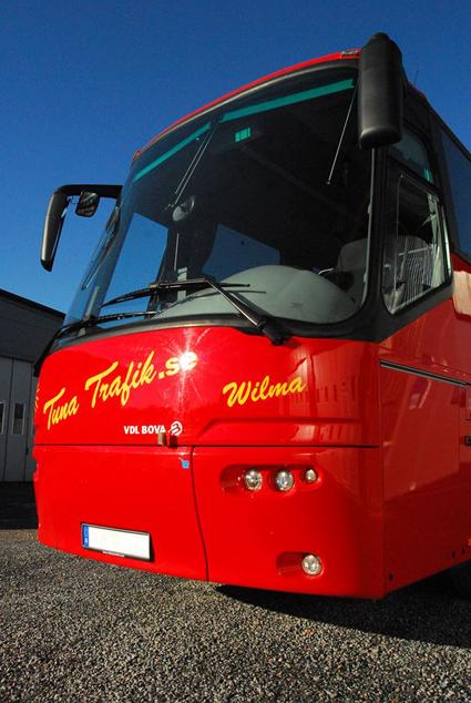 Tuna Trafik ska sköta transporterna under Junior-EM i friidrott. Foto: Tuna Trafik.