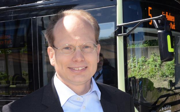 Volvo Bussars vd Håkan Agnevall: Volvo är först med bussexport från Indien till Europa. Foto: Ulo Maasing.