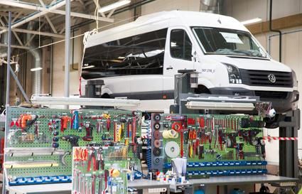 Den litausika minibusstillverkaren Altas har ökat produktionskapaciteten avsevärt. Foto: Altas.