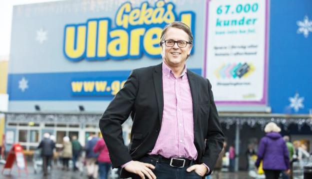 Gekås nye vd Jan Wallberg möter bussbranschen på Gekås årliga bussdag. Foto: Gekås Ullared.