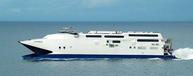 Gotlandsbåten gör ett nytt försök nästa år. Då ska man sätta in snabbfärjan HSC Express i Gotlandstrafiken. Foto: Gotlandsbåten.