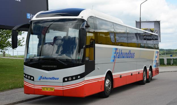 Gråhundbus är ett av de danska bussföretag som kör långväga linjer i Danmark. Foto: Ulo Maasing.