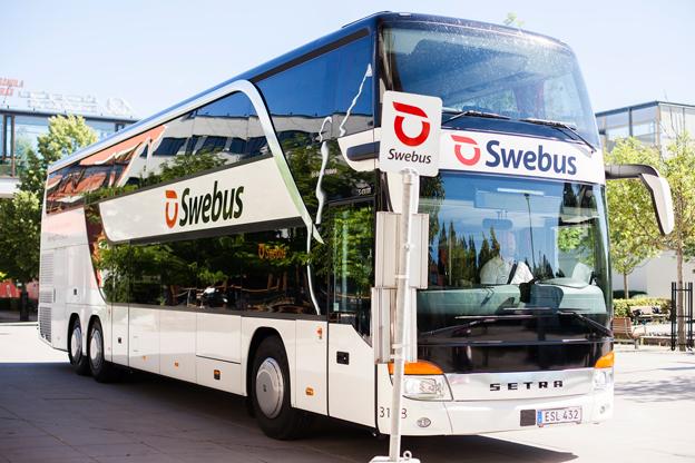 Swebus integrerar Mälardalens Högskolas linje mellan Västerås och Eskilstuna i sitt linjenät. Foto: Swebus.