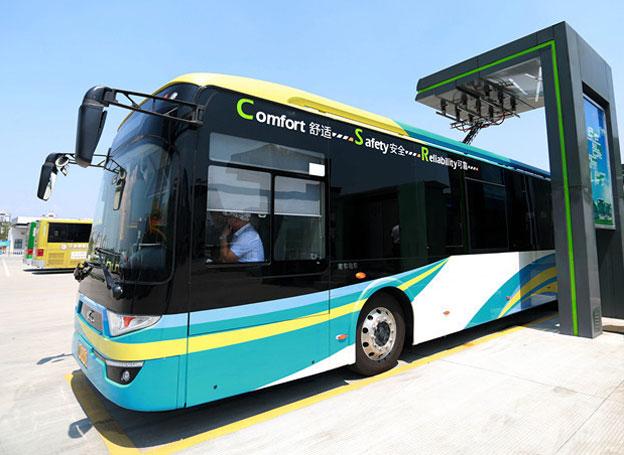 Staden Ningbo satsar på extremt snabbladdade elbussar. Foto: Nya Kina.