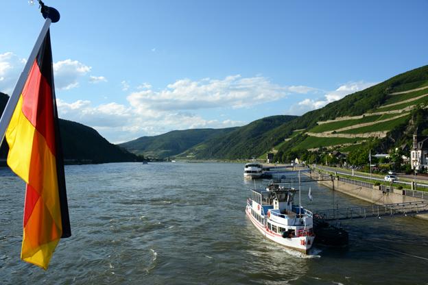 Tysk turism går allt bättre. Rhendalen är ett populärt resmål. Foto: Ulo Maasing.