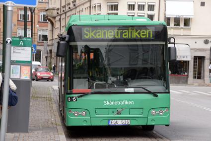 Skånetrafiken nobbar SD:s antitiggarreklam. Foto: Ulo Maasing.