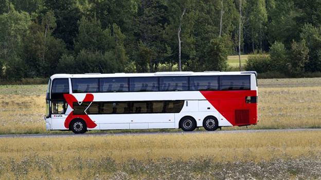 I höstas satte X-trafik in dubbeldäckare mellan Gävle och Hofors. Bussarna har blivit så populära att det kommer fler dubbeldäckare på linjen i höst. Foto: X-trafik.