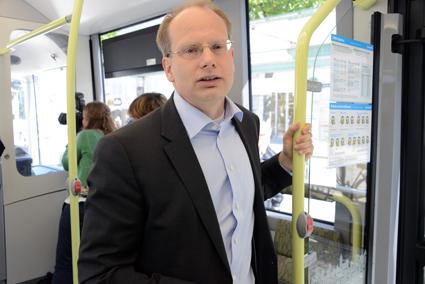 Volvo Bussars vd Håkan Agnevall: Sverige i framkant i världen. Foto: Ulo Maasing.