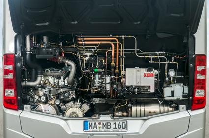 Den nya gasmotorn är på 7,7 liter och är på 302 hästkrafter.
