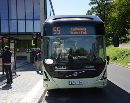 Elbuss på linje 55 i Göteborg. Foto: Ulo MAasing.