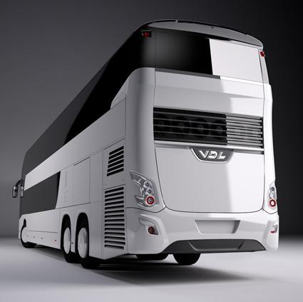 Designen har tydligt släktskap med Futura enplansbussar.