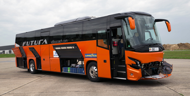 VDL Futura FMD2, funnen mest ekonomisk för expressbusstrafik av fyra testade bussar.