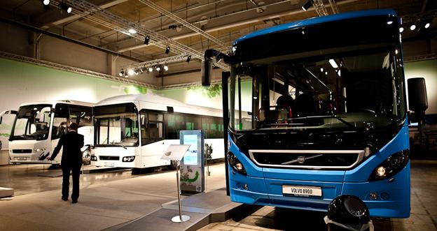 Volvomontern sist det begav sig med en transportmässa i Oslo, 2011 ...