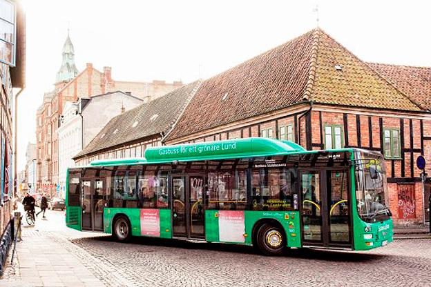 Stadsbussarna i Lund har på ett år fått femton procent fler resenärer. Foto: Skånetrafiken.