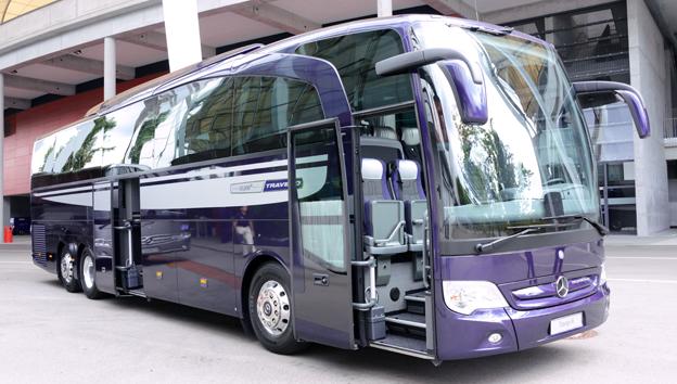 …liksom lyxturistbussen Travego. Foto: Ulo Maasing.