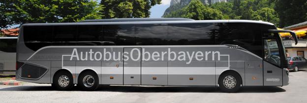 Autobus Oberbayern i München har köpt den första Setra TopClass 500 med stolsplacering 1+1 för resenärerna. Samtliga bilder: Daimler Buses.