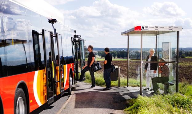 Östgötatrafiken har nu upphandlat landsbygdstrafiken i Östergötland. BLIVA Buss är en av de stora vinnarna, Samverkansbolagen SamBus och Buss i Väst gör inbrytningar. Foto: Östgötatrafiken.