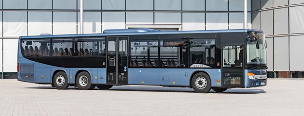 Setras nya S 418 LE business kan bli ett intressant alternativ för regional linjetrafik även i Sverige. Samtliga bilder: Daimler Buses.