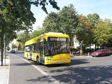 Linjen trafikeras av Solaris Urbino Electric. Foto: Solaris.