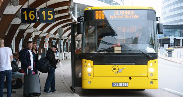 Kollektivtrafiken i Uppland klarar inte budget. Foto: Ulo MAasing.