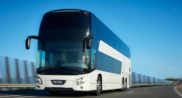 VDL:s nya dubbeldäckare Futura FDD2 premiärvisas för en större publik på Busworld i Kortrijk i oktober. Foto: VDL.