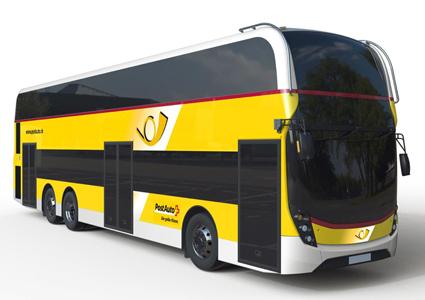 Med en beställning på 19 dubbeldäckare från schweiziska PostAuto gör ADL sin första inbrytning på kontinenten.