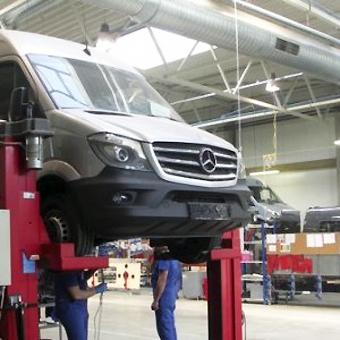 Den litauiska påbyggaren Atlas erbjuder nu möjligheten att göra en hybridbuss av Mercedes-Benz Sprinter. Foto: Atlas.