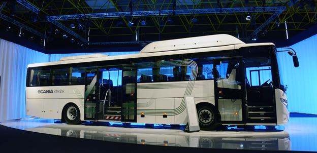 Scanias nya Interlink Low Decker premiärvisades på torsdagen på Busworld i Kortrijk. Foto: Ulo Maasing.