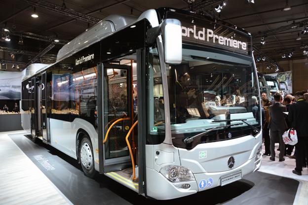 Den enda stora nyheten i Daimler Buses´monter på Busworld var Mercedes-Benz Citaro NGT. Foto: Ulo Maasing.