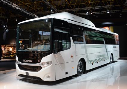 Scania ser förortstrafik, regionaltrafik, skoltrafik med mera som marknad för nya versionen av Interlink. Foto: Ulo Maasing.