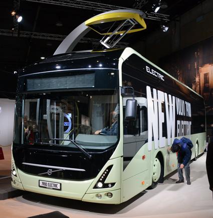 Volvo Bussars vd Håkan Agnevall berömmer regeringen för stadsmiljöavtalen och elbusspremierna. Foto: Ulo Maasing